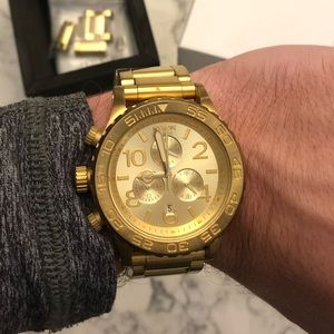Nixon All Gold 42-20 Chronograph Watch